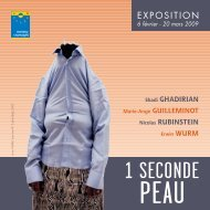 Expo 1 seconde peau - Connaissance de l'Art Contemporain