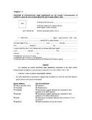 Allegato n. 2 Domanda di riconoscimento degli stabilimenti ... - SUAP