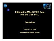 Road to Success for integrating MEaSUREs datasets into the DISC