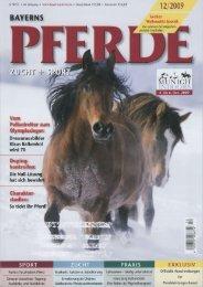 Der ganze Artikel aus Bayerns Pferde 12/2009 - Hofgut Allerer