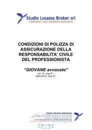 CONDIZIONI DI POLIZZA DI ASSICURAZIONE DELLA ...