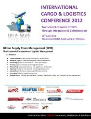 INTERNATIONAL CARGO & LOGISTICS CONFERENCE 2012