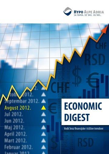 Economic Digest - Avgust 2012 - Hypo Alpe-Adria