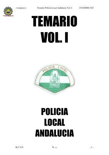 temario de acceso a la policÃa local vol 1 - Actiweb