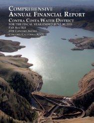FY 2011 Comprehensive Financial Report - Contra Costa Water ...
