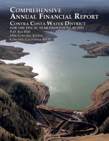 FY 2011 Comprehensive Financial Report - Contra Costa Water ...