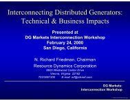 Interconnecting Distributed Generators: Technical & Business Impacts