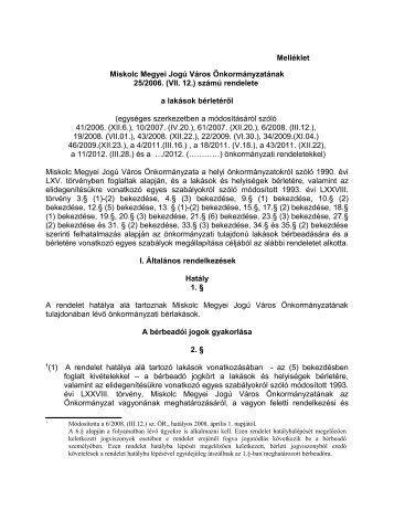 Miskolc Megyei Jogú Város Önkormányzatának
