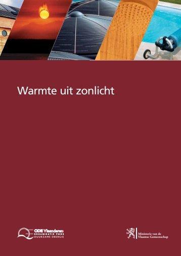 Brochure : warmte uit zonlicht - GoLanTec