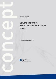 Valuing the future. Time horizon and discount rates - Concept - NTNU