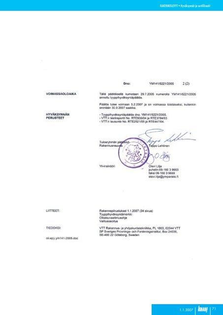 Knauf hyväksynnät ja sertifikaatit