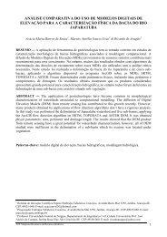 análise comparativa do uso de modelos digitais de elevação para a ...