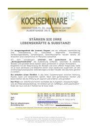 Schnupperkochen-Reihe 2010 - Dr. med. Sonja Laciny