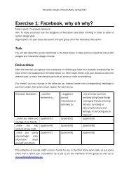 Exercises - Interaction Design & Technologies