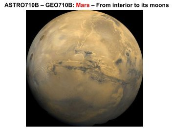 Mars - Meteor Physics Group