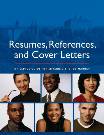 Resumes, References, and Cover Letters - School of Business - The ...