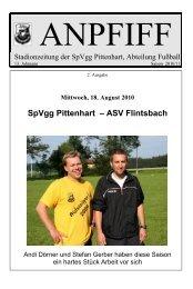 SpVgg Pittenhart – ASV Flintsbach