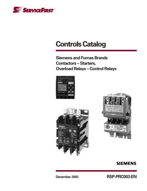 Controls Catalog Siemens and Furnas Brands ... - Servipartes Furnas Siemens Contactor Wiring Diagram Yumpu