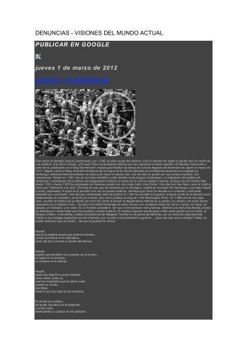 DENUNCIAS - VISIONES DEL MUNDO ACTUAL PUBLICAR EN ...