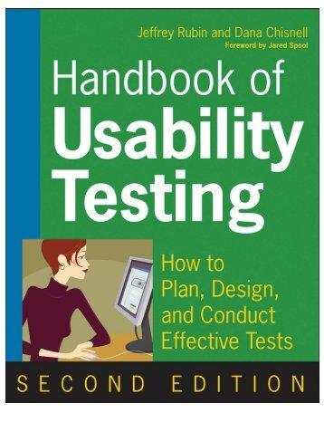 Handbook Of Usability Testing   Austin Center For Design
