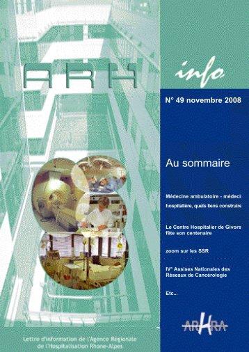 ARH Info n°49 de novembre 2008 - Parhtage santé