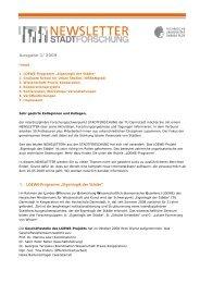 Ausgabe 1/2009 - Eigenlogik der Städte – Technische Universität ...