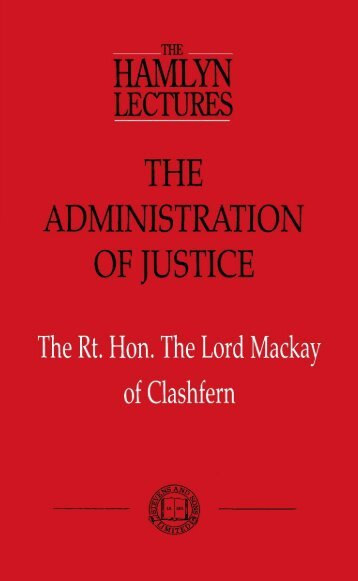 The Administration of Justice - College of Social Sciences and ...