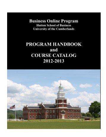 BUOL Catalog and Student Handbook, 2012-2013 - University of the ...