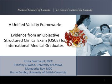 OSCE - Medical Council of Canada
