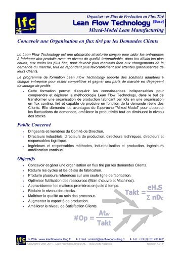 Téléchargez la Brochure détaillée de la Formation - Lean Flow ...