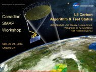 L4 carbon algorithm and test status (J.Kimball) - SMAP - NASA