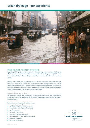 urban drainage - our experience - Royal Haskoning