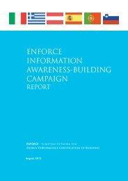 final Information awareness building campaign report - Enforce.een.eu