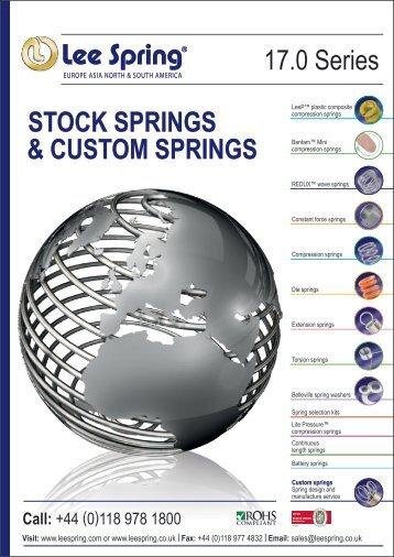 STOCK SPRINGS & CUSTOM SPRINGS 17.0 Series - Lee Spring Ltd