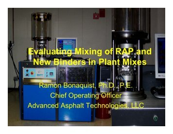 Evaluating Mixing of RAP and New Binders in Plant Mixes