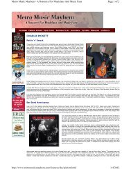 Page 1 of 2 Metro Music Mayhem - A Resource For ... - Charlie Pickett