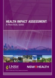 HEALTH IMPACT ASSESSMENT - SAG/ASE