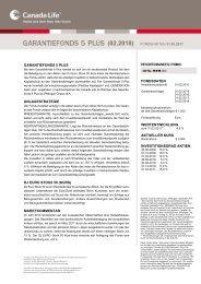 garantiefonds 5 plus anlagestrategie dj euro stoxx 50 ... - Canada Life