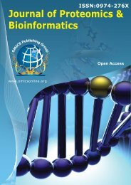 Journal of Proteomics & Bioinformatics - OMICS Publishing Group