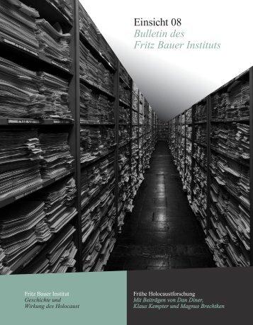 Einsicht 08 - Fritz Bauer Institut