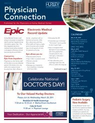 Physician Connection - Hurley Medical Center Education & Research