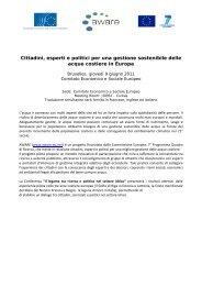 Cittadini, esperti e politici per una gestione sostenibile ... - the AWARE