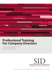 SID Listed Company Director - Singapore Institute of Directors