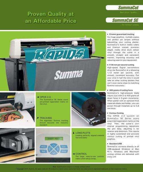 Download 399-050_SUMMACUTSERIES pdf - PSW