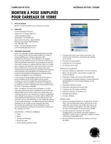 Catalogue carreaux ciment - Pose carreaux de verre ...