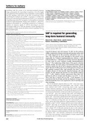 SAP is required for generating long-term humoral immunity