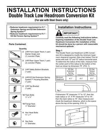 Garage door clopay garage doors installation - Garage door installation instructions ...