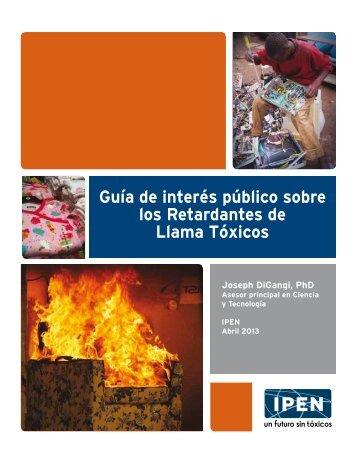 Guía de interés público sobre los Retardantes de Llama Tóxicos