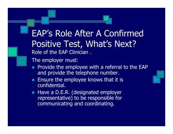 EAP's Role After A Confirmed Positive Test, What's ... - ABC Signup
