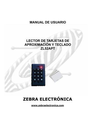 MANUAL LECTOR ZL52APT.pdf - Zebra Electronica